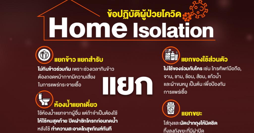 แยก-กัก-ตัว ข้อปฏิบัติขณะ Home Isolation สำหรับผู้ป่วยโควิด-19